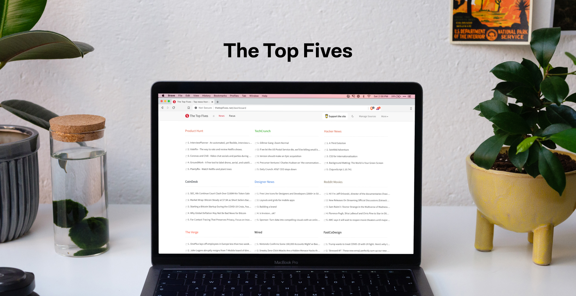 The Top Fives - Get the top news on products, design and technology from the some of the best sources
