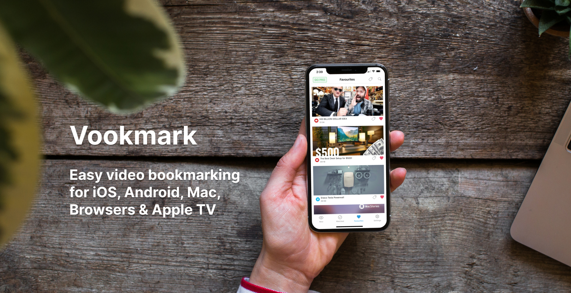 allows you to bookmark videos across the web and mobile and watch it later on your browser, Apple TV, iOS or Android devices